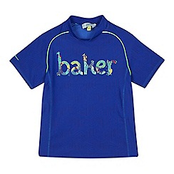 Baker by Ted Baker - Boys' blue jungle logo print rash vest