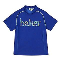 Baker by Ted Baker - Boys' blue jungle logo print rash vest