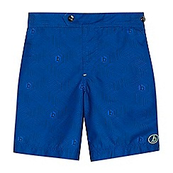 Baker by Ted Baker - Boys' blue geometric print swim shorts
