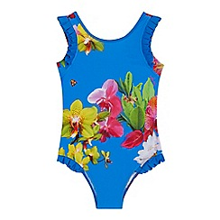 Baker by Ted Baker - 'Girls' blue floral print swimsuit