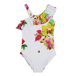 e836cde18d7a2 Baker by Ted Baker - 'Girls' white floral print swimsuit