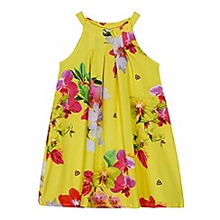 Baker by Ted Baker - Girls' yellow floral print dress