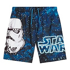 Star Wars - 'Boys' navy 'Star Wars' print swim shorts