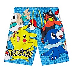 Pokemon - 'Boys' multi-coloured 'Pokemon' print swim shorts