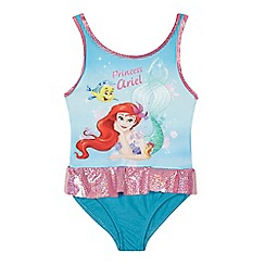 Disney - 'Girls' multi-coloured 'The Little Mermaid' print swimsuit