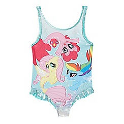 My Little Pony - 'Girls' multi-coloured 'My Little Pony' print swimsuit