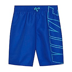 Nike - Boys' blue logo print swim shorts