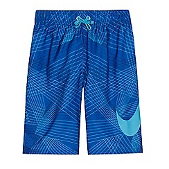 Nike - 'Boys' blue logo print swim shorts