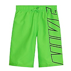 Nike - 'Boys' green logo print swim shorts