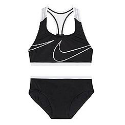 Nike - 'Girls' black logo print bikini set