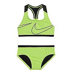 Nike - 'Girls' yellow logo print bikini set