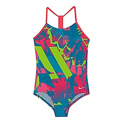 Nike - 'Girls' multi-coloured printed swimsuit