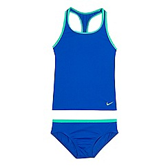 Nike - 'Girls' blue logo print tankini set