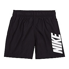 Nike - Boys' black logo print swim shorts