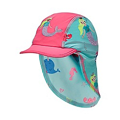 bluezoo - Girls' Aqua Mermaid Print Keppi Hat