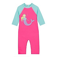 bluezoo - Girls' Pink Mermaid Applique Sunsafe