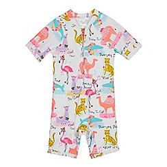 bluezoo - Kids' Multicoloured Animal Print Sunsuit