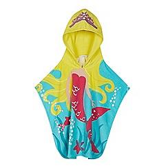 bluezoo - Kids' Aqua Mermaid Towel Poncho
