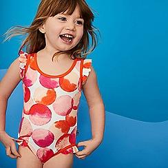 J by Jasper Conran - Girls' Orange Spot Print Swimsuit