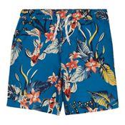 440f100dda0f Baker by Ted Baker Boys  Blue Deep Sea Print Swim Shorts