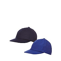 bluezoo - Pack of two boys' blue caps