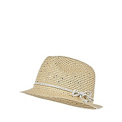 bluezoo - Girls' straw trilby hat