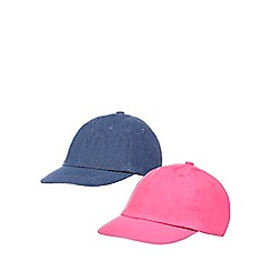 bluezoo - Set of two girls' pink and navy denim caps