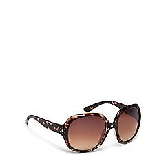 bluezoo - Girls' brown studded round sunglasses