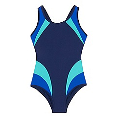 bluezoo - Girls' navy colour block swimsuit