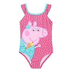 Peppa Pig - Girls' pink 'Peppa Pig' print swimsuit