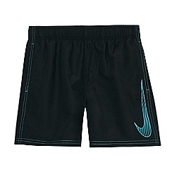 Nike - Boys' black 'Big Swoosh' 4' volley swim shorts