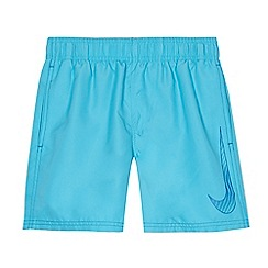 Nike - Boys' blue 'Big Swoosh' 4' volley swim shorts