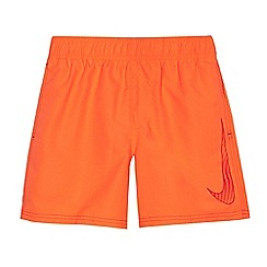 Nike - Boys' orange 'Big Swoosh' 4' volley swim shorts