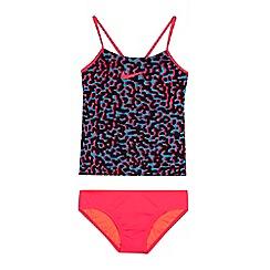 Nike - Girls' pink printed tankini