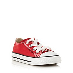 Converse - Children's red 'All Star' canvas trainers