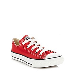Converse - Boy's red 'All Star' canvas trainers