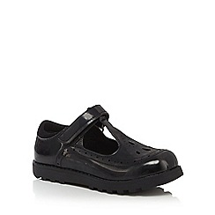 Debenhams - Girls' black patent scuff resistant t-bar school shoes
