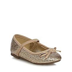 bluezoo - Girls' gold glitter pumps