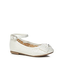 bluezoo - Girls' ivory glitter pumps