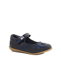bluezoo - Girls' navy butterfly embroidered pumps