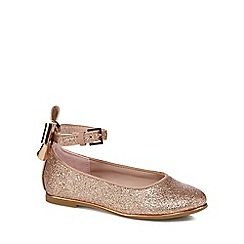 Baker by Ted Baker - Girls' light pink glitter pumps