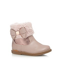 Baker by Ted Baker - Girls' pink faux fur cuff ankle boots
