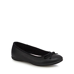 Debenhams - Girls' black scuff resistant leather ballet pump school shoes