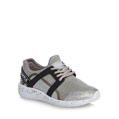Pineapple - Girls' grey trainers Fashionable and eye-catching shoes