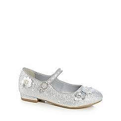 RJR.John Rocha - Girls' silver sequinned buckle shoes