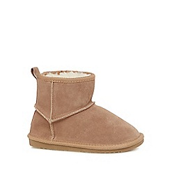Mantaray - Girls' light tan suede boots