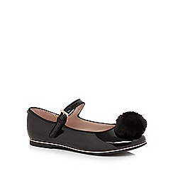Baker by Ted Baker - Girls' black patent pom pumps'