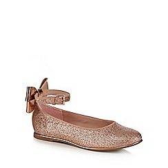 Baker by Ted Baker - Girls' pink glitter bow back pumps