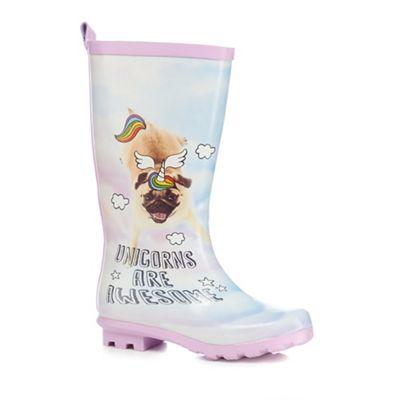 bluezoo - Girls' multi-coloured 'Unicorns are awesome' wellies
