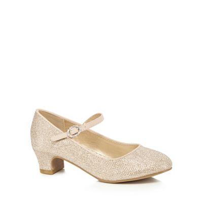 RJR.John Rocha Rocha Rocha - Girls' gold glittery heeled shoes 0def10